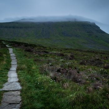 The approach to Ingleborough in Yorkshire.