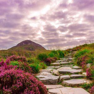 A cloudy sky in Ireland