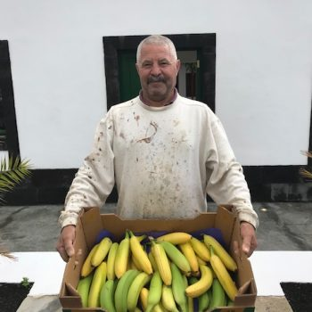 The owner of Jesus' Banana Plantation, a neighbor of Faro Punta Cumplida