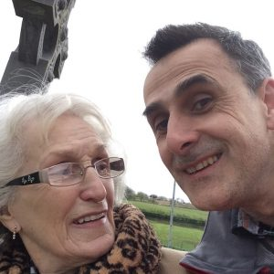 Jim Murty and his mum, Teasy, in Donegal