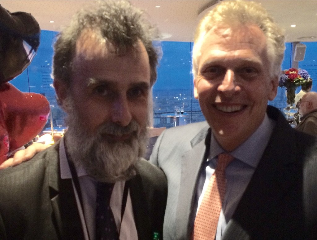 Jim Murty with former Virginia governor Terry McAuliffe at the Guinness Storehouse, one of Dublin's many Irish bars