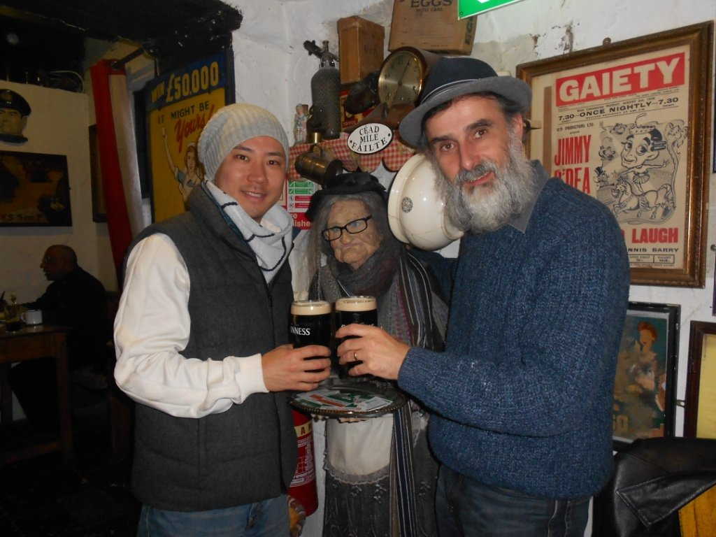 Jim Murty with friend at Johnnie fox's, one of Ireland's many Irish bars