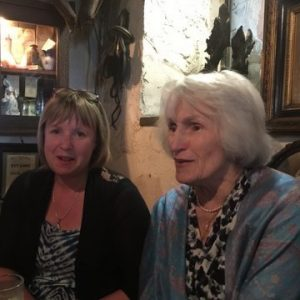 Jim Murty's wife and mum, Teasy at Johnny Fox's, one of Ireland's many Irish bars