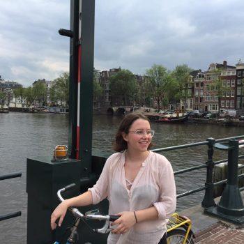 Kate Clark Amsterdam Bike Ride
