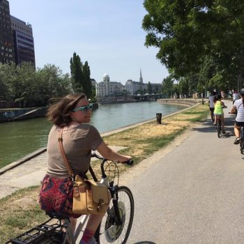 Kate Clark on Vienna Bike Ride
