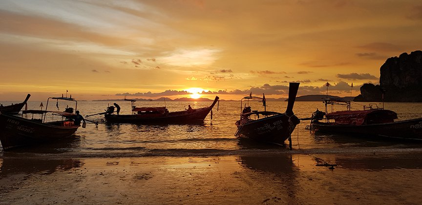 Krabi sunset teach in thailand
