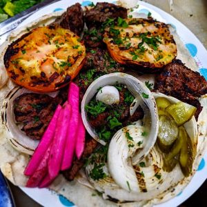 Photo provided by Levant Kitchen. Grilled onions, tomatoes, and beet from Levant Kitchen in metro Detroit.