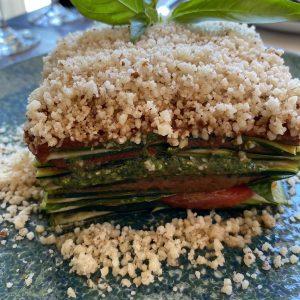 Photo by Dreams Abroad. Raw plant-based lasagna.