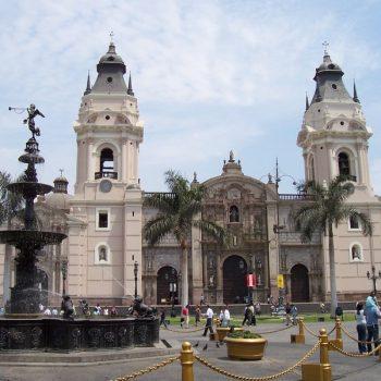 A photo of beautiful architecture in Lima, Peru.