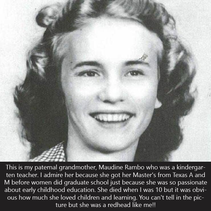 Caroline Hazelton's grandmother