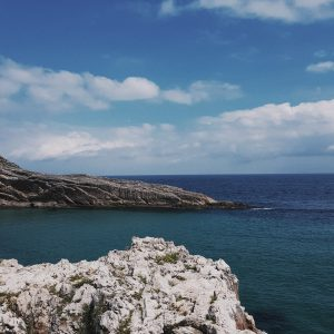 The sea at Llanes in Asturias, where Marcos lived before becoming a hospitality professional in the United States.