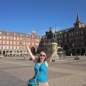 Kristen exploring Plaza Mayor