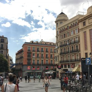 A plaza in Madrid.