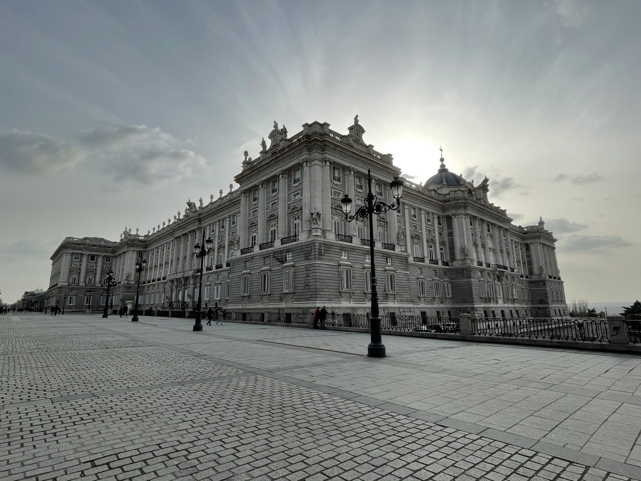 Madrid Palacio Real in March 2021