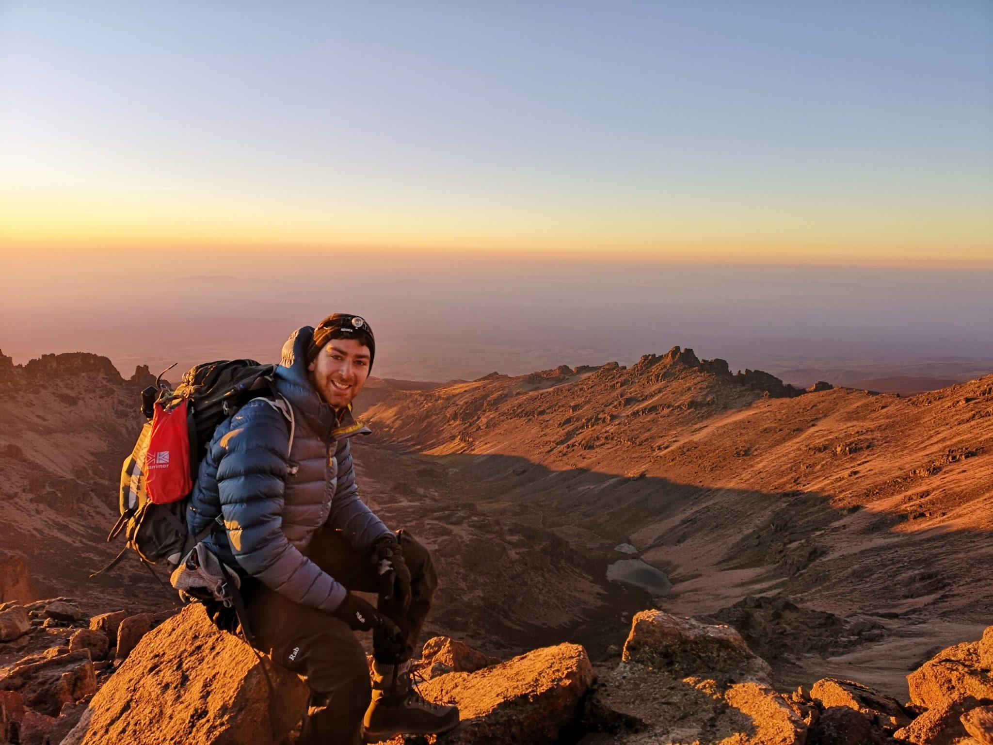 Matt on a mountain in Kenya.