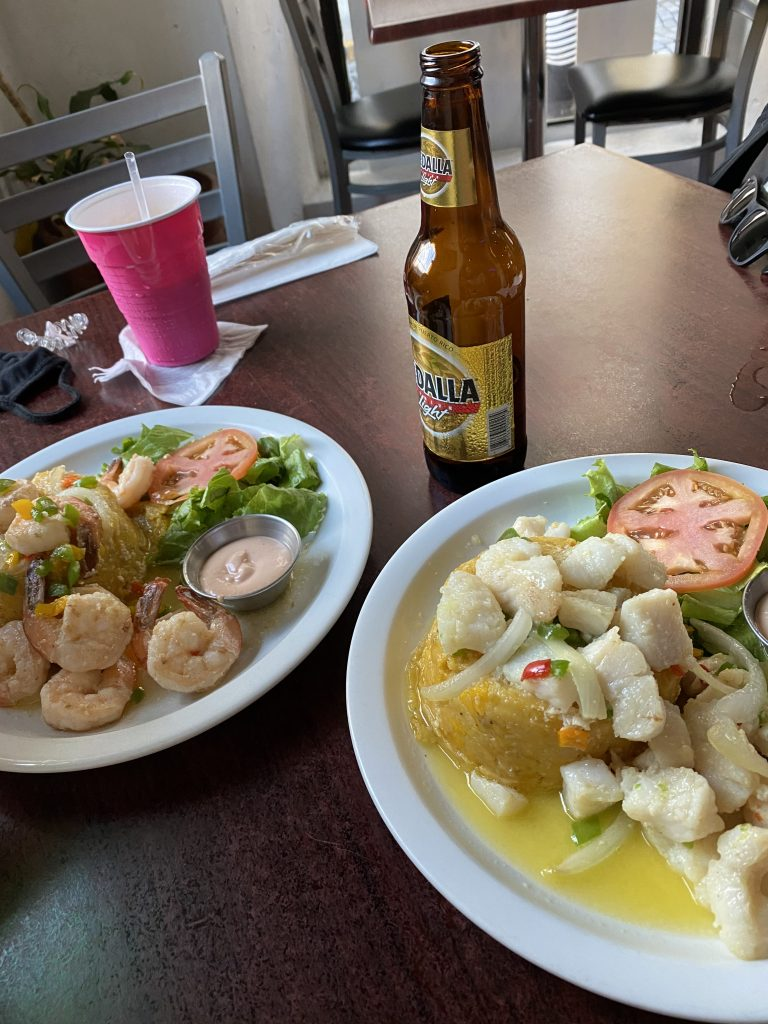 One of the best things to do in San Juan is to try Mofongo!