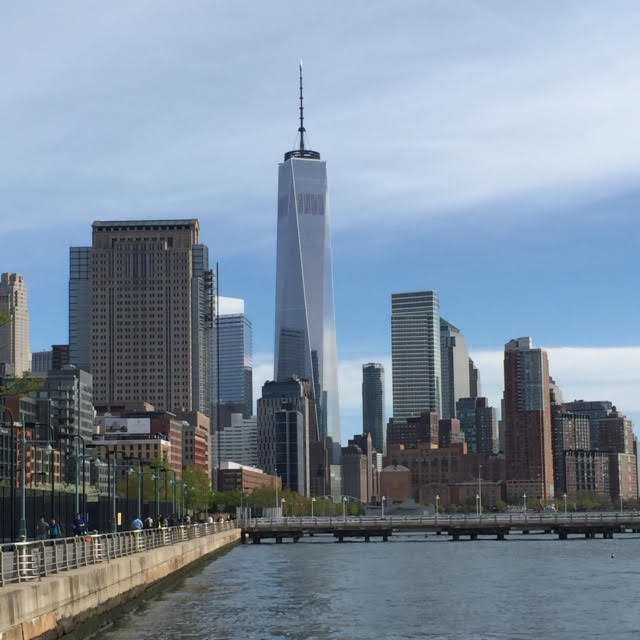 An image of New York City from a pier, provided by the Top Ten Travel writer