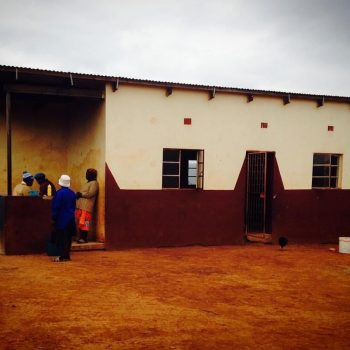 The Neighborhood Care Point Before painting, a Peace Corps project Rachel initiated