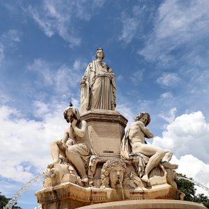 The fountain in Nimes