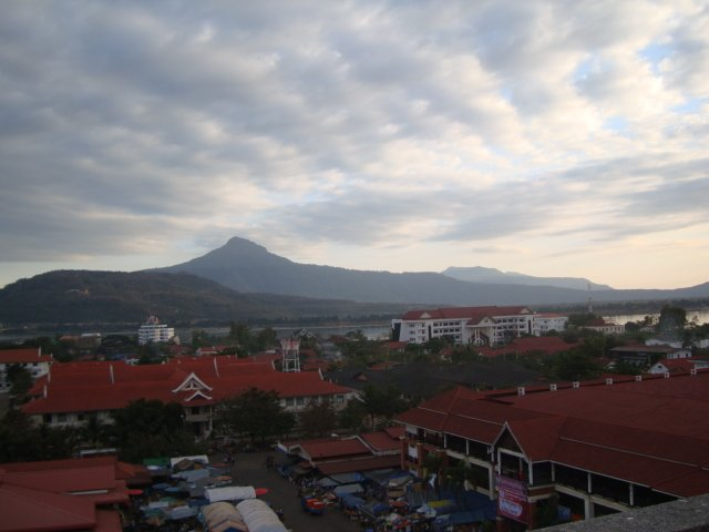 Overview of Pakse, Laos
