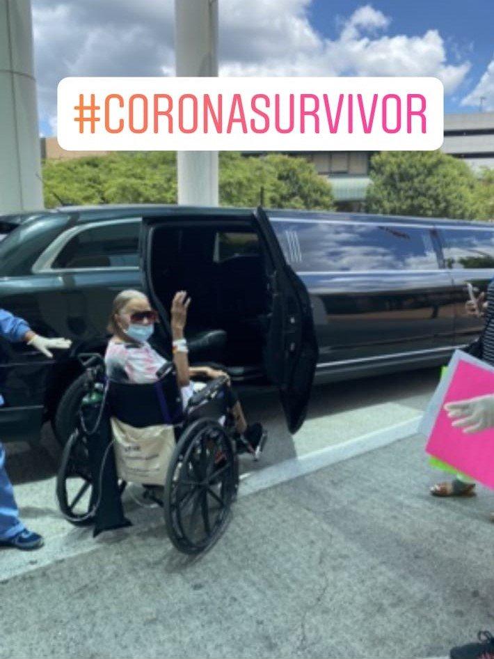 Lamon's mom, a coronavirus survivor.
