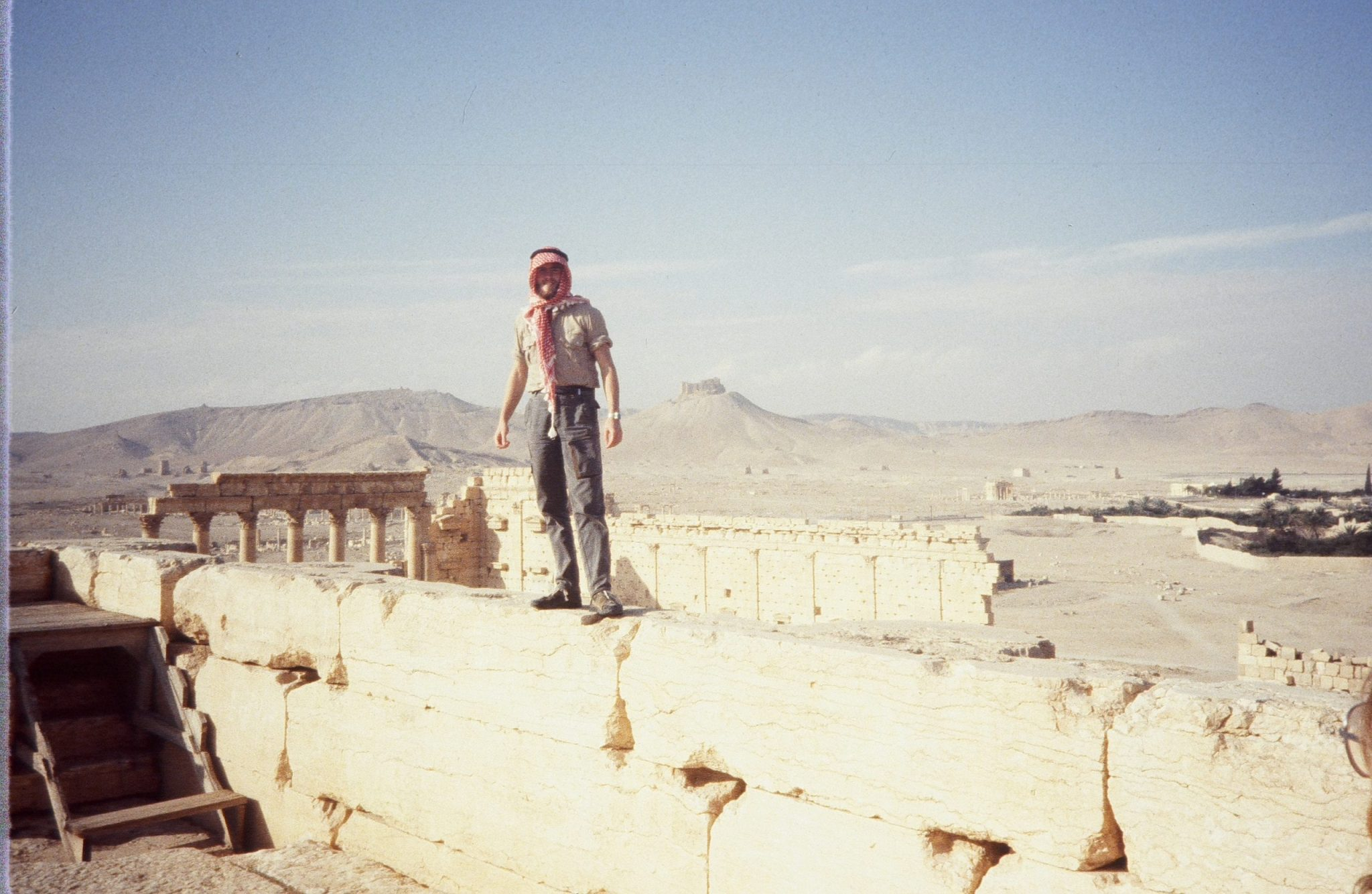 Adam Rogers at the Palmyra Ruins