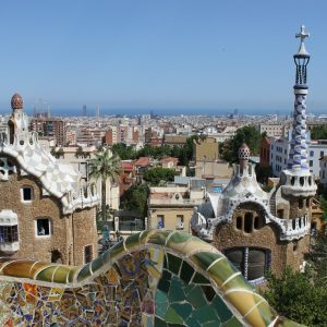 Parc Guell's view of the city