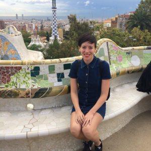 Susanna in Park Güell, Barcelona