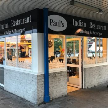 The outside of Paul's Indian Restaurant.