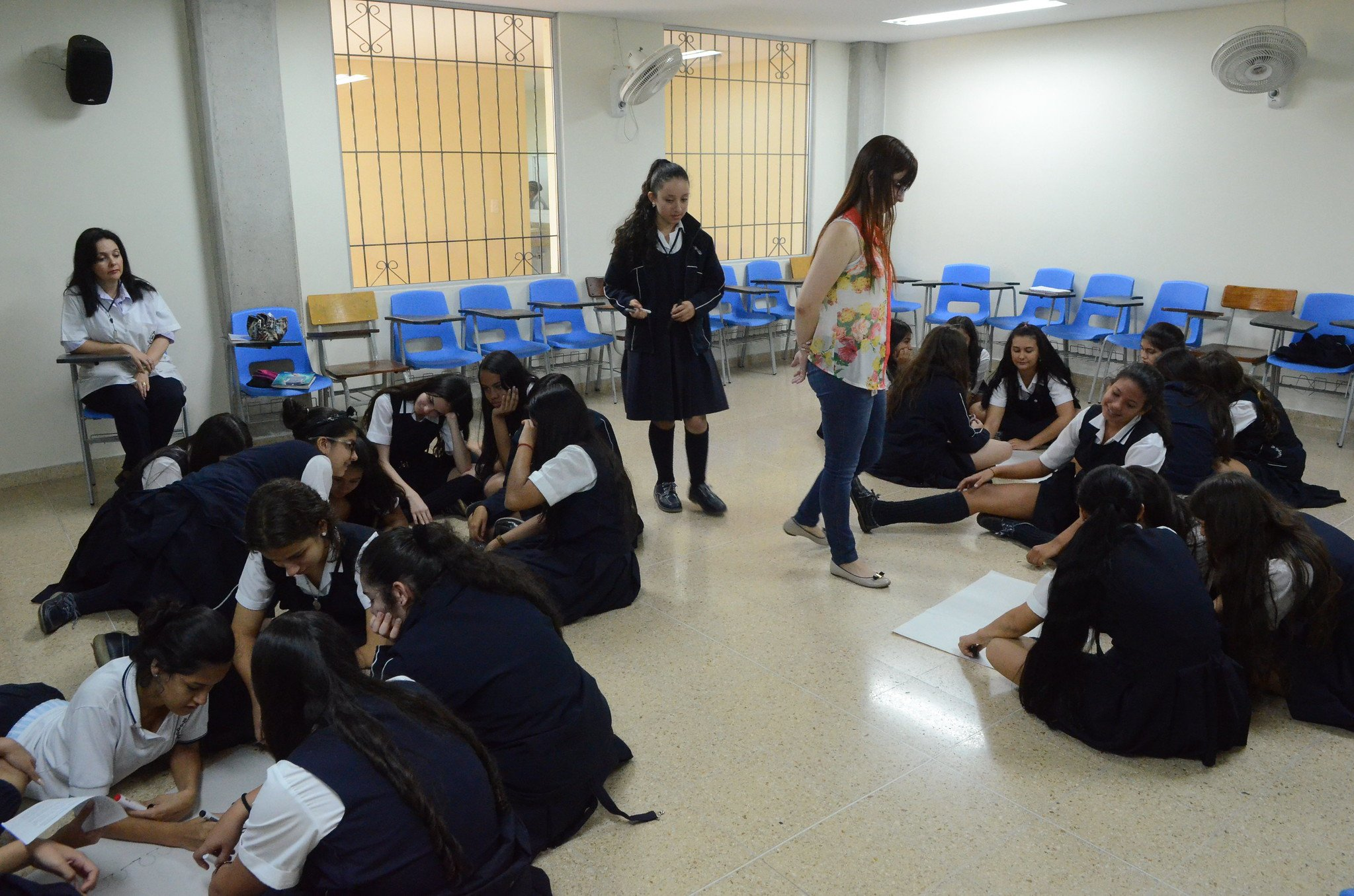 At La Presentation College in commune 12 La América, approximately 150 students learn about caring for life on the road.