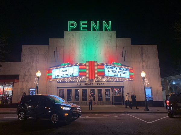 Photo by Marie Cantor | Dreams Abroad. Penn Theatre from the outside in metro Detroit