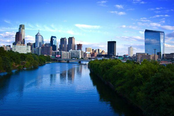 Philadelphia from the river.
