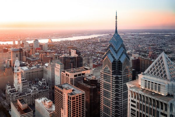 Philadelphia is one of the Best places to visit in the summer. Here is an aerial photo of the city.