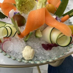 Photo by Dreams Abroad. Iced veggies.
