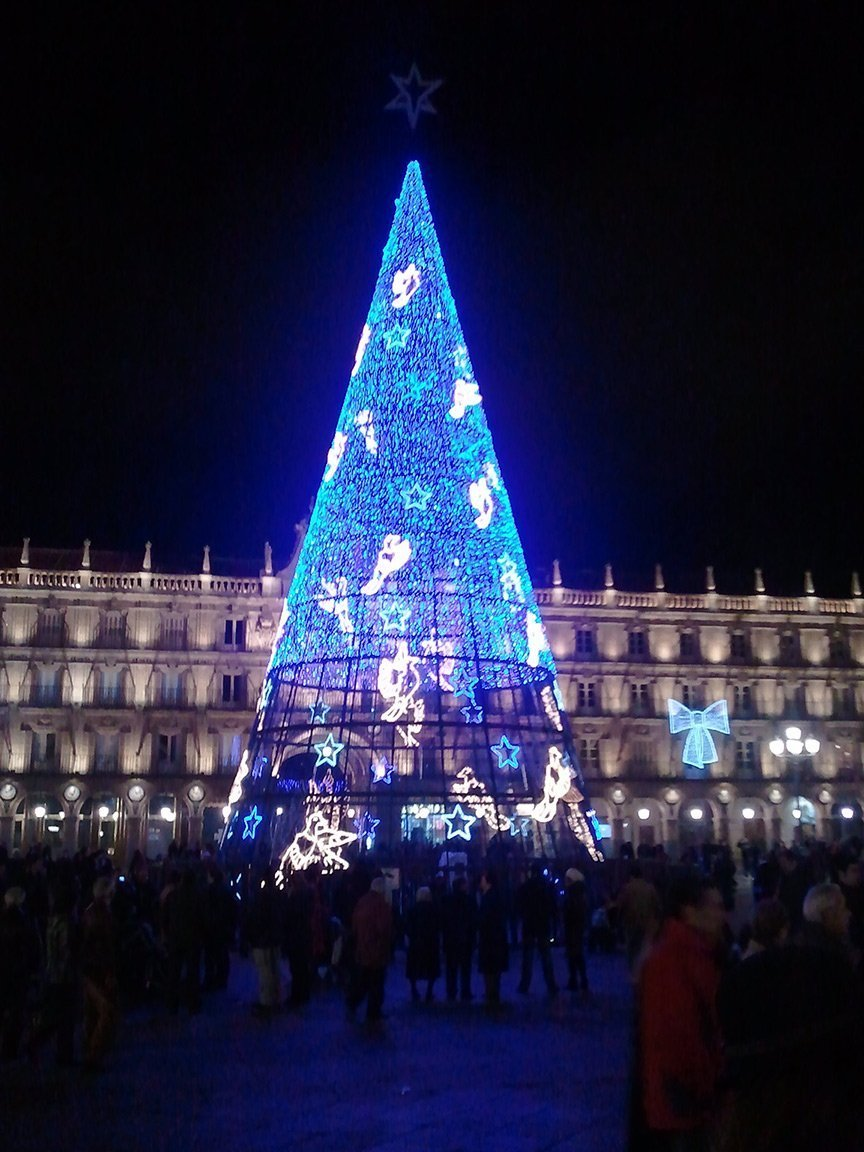 Christmas tree Plaza Mayor