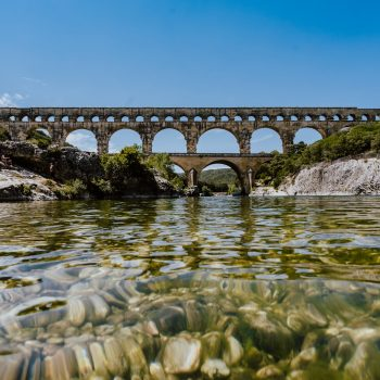 The Pont du Gard in France, which Cassidy saw on her Euro tour