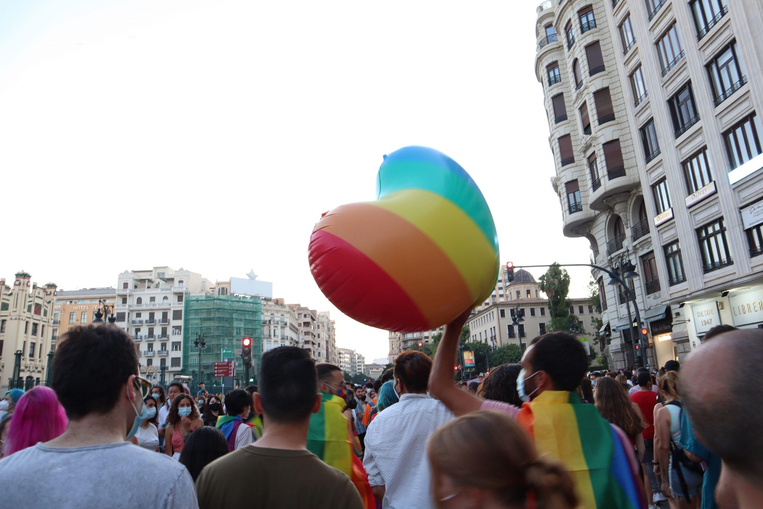 Marching for pride in Valencia, an LGBTQ+-friendly destination