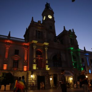 Valencia lit up for pride