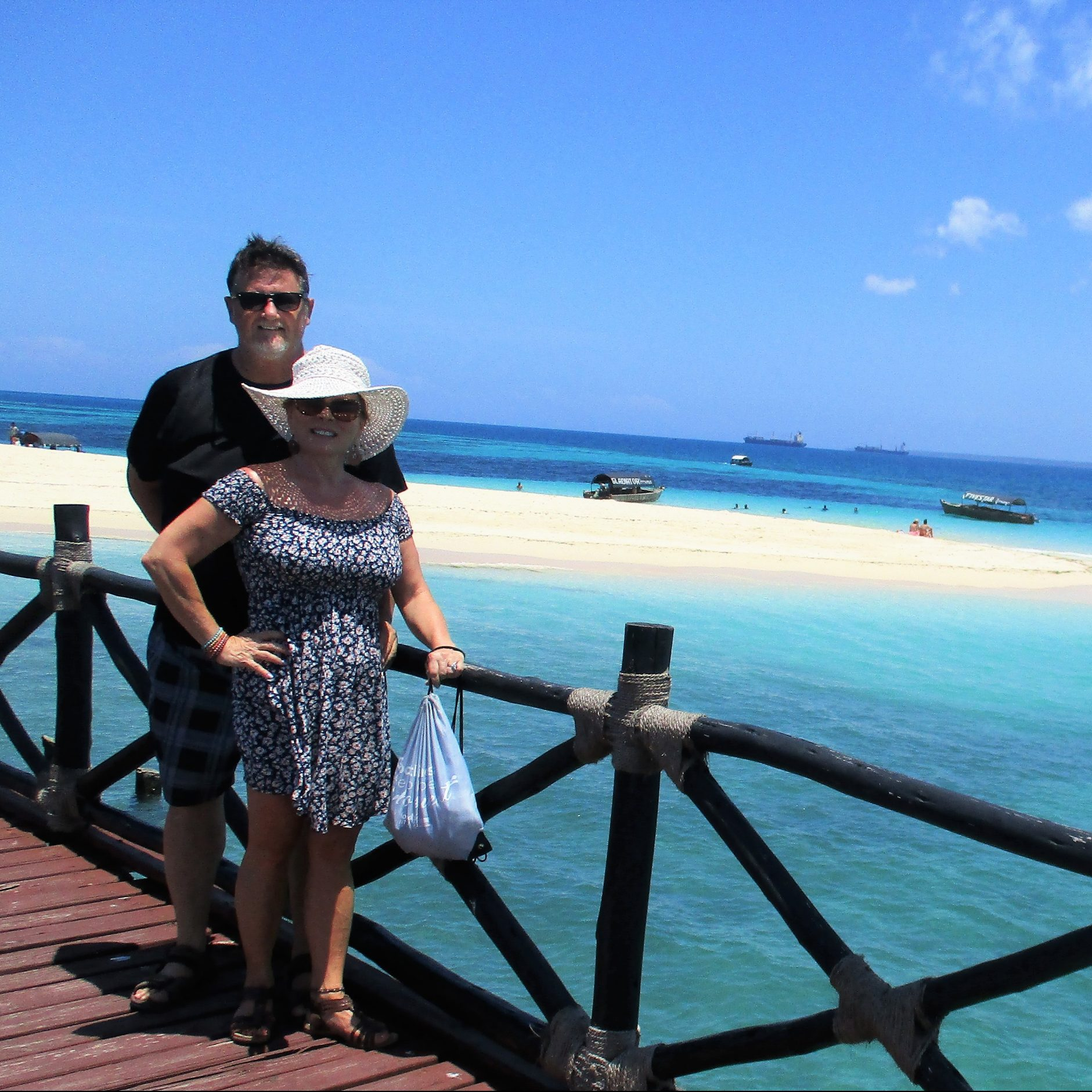 Ed and his wife at Prison Island, one of the best reasons to visit Zanzibar