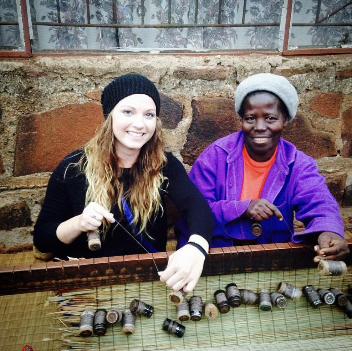 Rachel and Make during her time with the Peace Corps