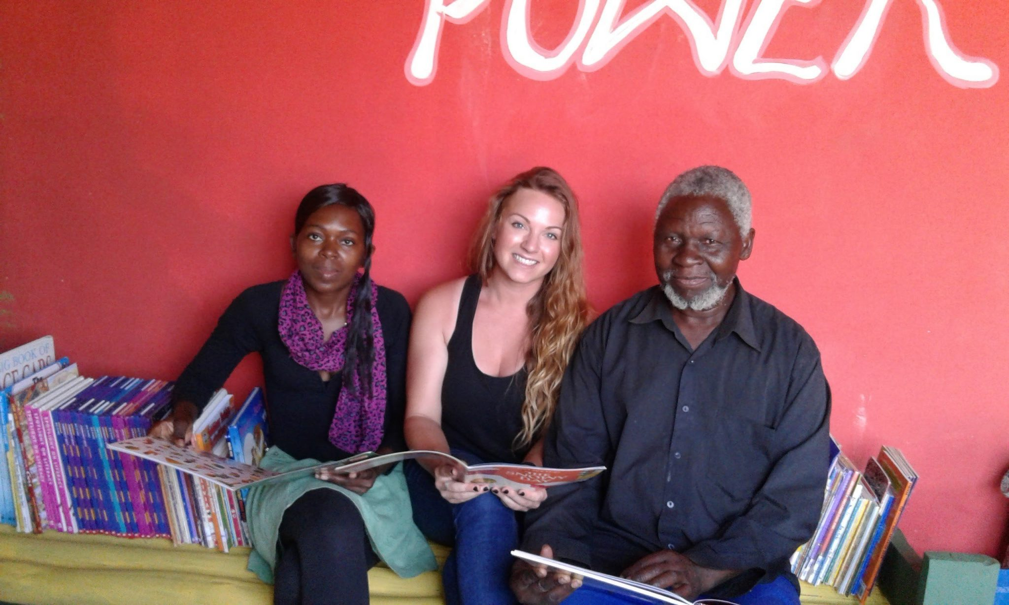 Rachel with community leaders during her time with the Peace Corps