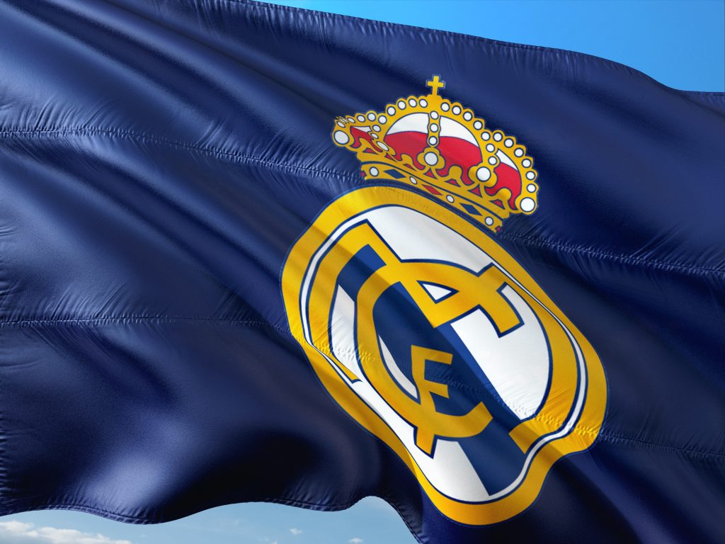 The flag of Real Madrid, which is where Edgar moved when he moved to another country