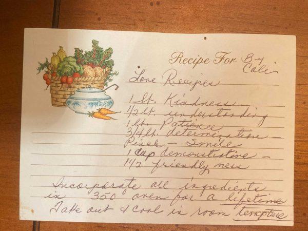 A recipe for love, written by Micaela Colon