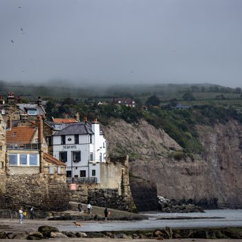 A photo from across the sea of Robin Hood's Bay
