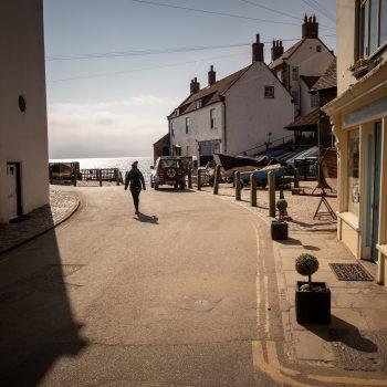 A street scene in Robin Hood's Bay