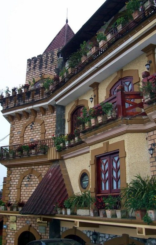Some architecture in Sa Pa, one of the many reasons to visit Sa Pa