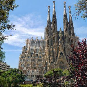 The Sagrada Familia from far away