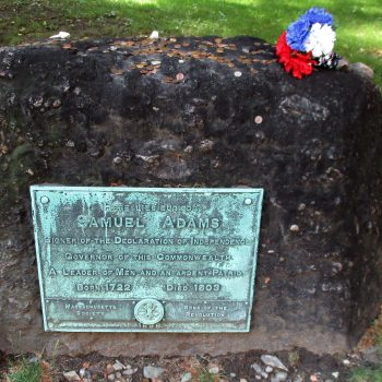 Sam Adams's Gravestone, one of the neat things to do in Boston.
