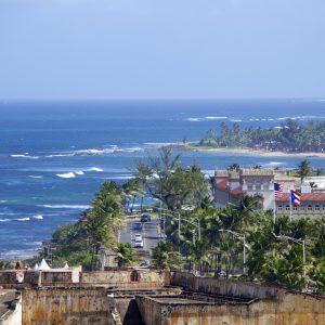 A photo of San Juan's coastline.