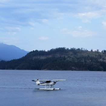 A seaplane -- one of the only ways to access Sunshine Coast BC